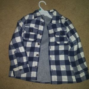 Carters fleeced lined flannel